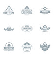 awning logo set simple style vector image vector image