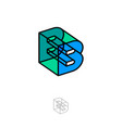 b box monogram abstract volume logo building vector image vector image