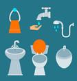 bath equipment icon toilet bowl bathroom clean vector image vector image