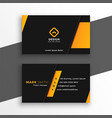 black and yellow modern business card design vector image vector image
