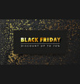 black friday banner with gold texture dark vector image