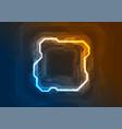 blue orange neon abstract tech geometric vector image vector image