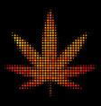 bright dot cannabis icon vector image vector image
