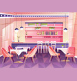 cartoon cafe background cafeteria interior vector image vector image