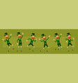 cartoon irish leprechaun character big set vector image vector image