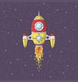 cartoon rocket launch vector image