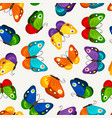 children butterfly seamless pattern vector image vector image