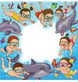 children swim vector image