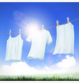 clothes hanging on the rope vector image vector image