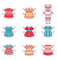 clothes pack for little animalseerie vector image vector image