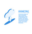 cloud download icon isometric template vector image