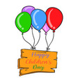 colorful balloon design childrens day vector image vector image