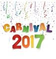 Colorful handmade typographic word carnival 2017 vector image