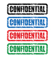 confidential stamp vector image