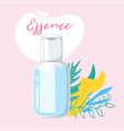 cosmetic care product in bottle vector image vector image