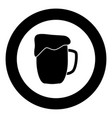 cup beer icon black color in circle vector image vector image