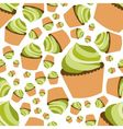 cupcake seamless pattern vector image vector image