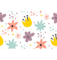 cute pattern in small flower small colorful vector image vector image