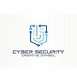 cyber security creative symbol technology concept vector image