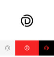 d in circle minimalism logo from letter d vector image
