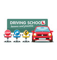 driving lessons in driving school autoclass vector image vector image