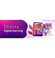 e-library header or footer banner vector image vector image