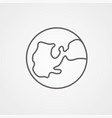 earth icon sign symbol vector image