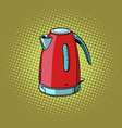 electric kettle kitchen equipment vector image