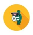flat icon hydraulic pump vector image vector image