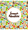 flat summer adventure greeting vector image vector image
