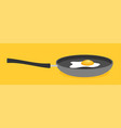 fried egg in a frying pan isolated vector image vector image