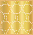 gold foil hexagons seamless pattern vector image