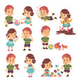 good and bad kids playing peacefully and vector image vector image