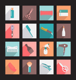 haircutting tool Flat icons Beauty salon vector image vector image