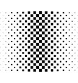 halftone black and white square pattern background vector image
