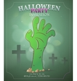 Halloween party invitation design vector image