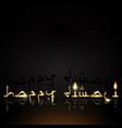 happy diwali indian lights festival holiday card vector image vector image
