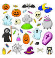happy halloween background wallpaper template vector image vector image