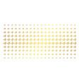 hearing gold halftone matrix vector image vector image