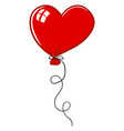 heart balloon on white background vector image vector image