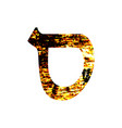 hebrew letter samech shabby gold font the hebrew vector image vector image