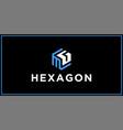 mg hexagon logo design inspiration vector image vector image