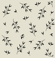 monochrome seamless pattern with leaves vector image vector image