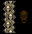 new pattern 2019 skull 0002 vector image vector image