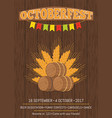 oktoberfest promotional poster vector image vector image