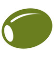 olive flat icon vector image vector image