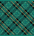 plaid tartan seamless with crocodile skin pattern vector image vector image