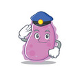 police bacteria character cartoon style vector image vector image