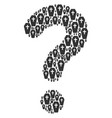 question collage of coffin icons vector image vector image