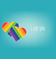 rainbow shape of heart love abstract background vector image vector image